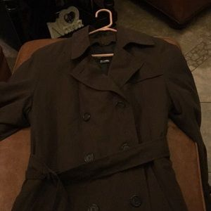 Anne Klein III Brown long trench coat with belt